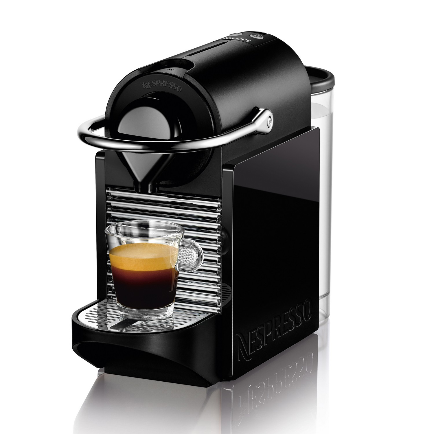 krups nespresso pixie clips black lemon espresso coffee machine ebay. Black Bedroom Furniture Sets. Home Design Ideas