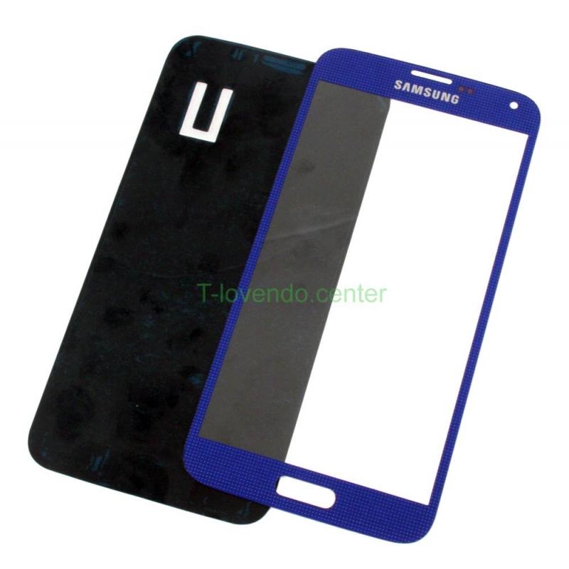 Cristal pantalla Front glass original para Samsung Galaxy S5 i9600 Azul claro